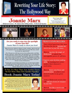 Presentation Topic - Rewriting Your Life Story The Hollywood Way - Joanie Marx - 2016