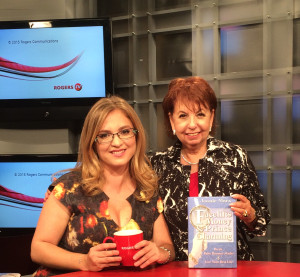 Barbara Balfour and Joanie Marx on set of Ottawa Experts Premier Season Episode entitled , Making Friends After the Age of 30 - 9-15
