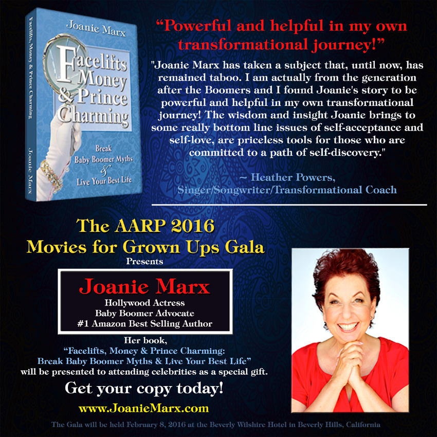Joanie Marx AARP-Gala-2 About the Book